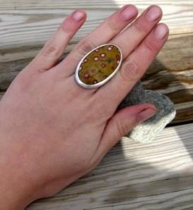 Gaudeloupe Poppy Jasper Ring